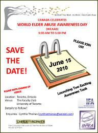INPEA | WEAAD 2010 Events | Elder Abuse Prevention