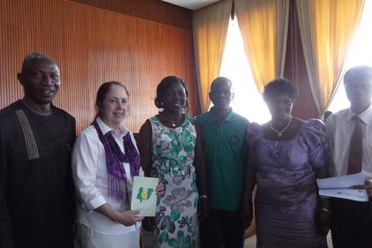 Pastor Chukwu with Susan Somers and INPEA members from Nigeria