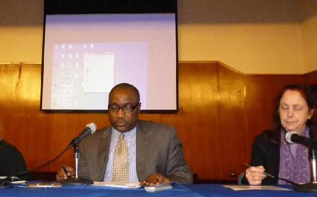Samuel Slewion, MSW INPEA National Representative for Liberia, (read presentation here) and Susan Somers, INPEA President